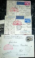 3x Karte Brief Graf Zeppelin Polarfahrt 1931 EF 456 457 458 BPP Schlegel (18
