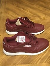 Reebok Classic Leather Men's Running Shoes Merlot/White/Gum cn1423