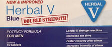 20 Herbal v Blue Sex Supplement For Men Double Strength VERY STRONG 100mg