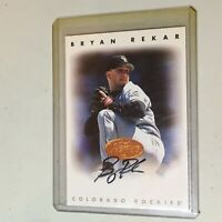 F51695  1996 Leaf Signature Auto Rockies #192 Bryan Rekar