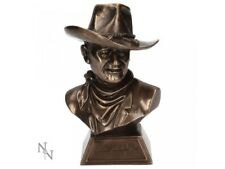 JOHN WAYNE Signed 18cm Bronzed Bust Cowboy The Duke Nemesis Now Willow Hall BNIB