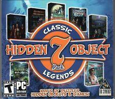 DARK ASYLUM + BIGFOOT CHASING SHADOWS Hidden Object 7 PACK PC Game NEW