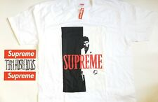 Supreme Scarface Split Tee White Black Mens H2H Size XL F/W2017 collectable