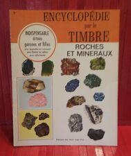 vintage 1967 Encyclopédie par le Timbre.# 7. Roches et Minéraux . sticker book