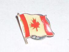 """Vintage 1/2"""" Canadian Flag Flagpole Maple leaf Pin"""