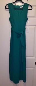 NWT Calvin Klein Women Bright Green Jumpsuit Romper Sleeveless 4 8 14 NEW