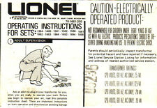 OPERATING INSTRUCTIONS FOR LIONEL TRAIN SETS - COPY