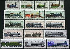 CANADA #999-1002 1036-39 1071-74 1119-21 complete set 16 Trains, Locomotives MNH