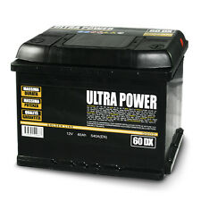 ULTRA POWER Batteria per auto 60Ah DX 540A pronta all'uso lunga durata e potenza