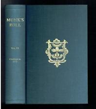 Lives of the Fellows of the Royal College of Physicians of London to 1975 VG