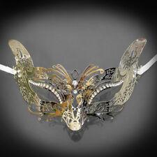 Luxury Gold Cat Woman Mardi Gras Venetian Ball Prom Metal Masquerade Mask