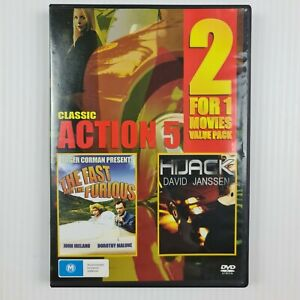 The Fast and The Furious/Hijack Classic Action 5 DVD - 2 For 1 Movies - TRACKED