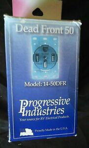 Progressive Industries 50A Straight Rectangular Outdoor Power Inlet
