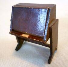 Vintage Dolls House Furniture - Dol-Toi Dark Wood Bureau Desk