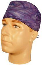 Purple Blue Tye Tie Dye Sweatband Scrub Cap Medical Dental Doctor Nurse Vet
