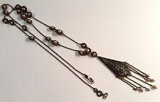Lunga elegante ORIGINALE DIOR Costume Collana, comprato Selfridges di Londra in ritardo 1990s
