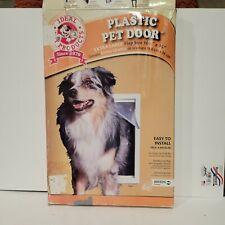 """Ideal Extra Large Original Frame Pet Dog Plastic Door 10.5""""x15"""" Usa"""
