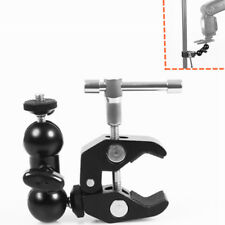 5.5-1cm Rod Clamp Mount Magic Arm w/1/4 Screw Ball Head for Camera Monitor Light