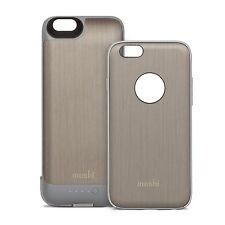 Moshi Iglaze Iphone 6 Battery Case Charging Brushed Titanium Brand New