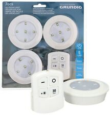 Grundig Wireless Remote Control Ceiling LED Puck Lights Counter Cabinet Cupboard