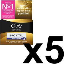 5 Olay Anti-Arrugas Crema de Noche Antienvejecimiento Hidratante matureskin 50 Ml Pro vital