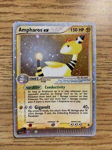 2003 Pokemon EX Dragon Ampharos EX Ultra Rare 89/97 Played Holo Swirl!