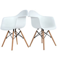 2er Esszimmerstuhl Büro Sessel Kunststoff Wohnzimmer Wohnzimmer weiß Cafe Stühl