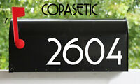 "2 Sets of 3.5"" Custom Mailbox Numbers Home Business Address Vinyl Die Cut Decals"