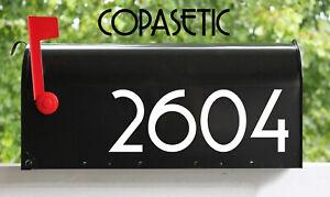 "2 Sets of 3"" Custom Mailbox Numbers - Home Business Address Vinyl Die Cut Decals"