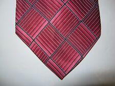 Arrow SILK Tie Necktie 58 x 3.5 red pink black 14068