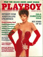 Playboy Magazine December 1983 FREE S/H Dynasty Star Joan Collins Uncovered