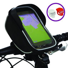 BTR Handlebar Bike Bag & Bicycle Mobile Phone Holder With Front Rear Bike Lights
