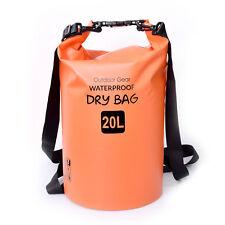 20L Dry Bag Waterproof Outdoor Swimming Rafting Kayaking Sailing Canoe Backpack