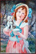 Dipinti a olio Quadro Telaio Ritratto ragazza 90 x 60cm eccellente Kuenstlerarb