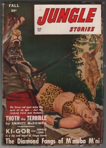 Jungle Stories 1947 Fall. Bondage cover.   Pulp