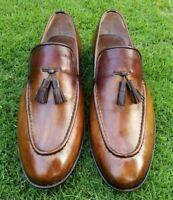 Slip-On fait à la main en cuir brun sur mesure, mocassins pour hommes, formelle