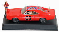 Pioneer P016R General Lee Charger 1/32 slot car, Daisy in red top w/ key ring