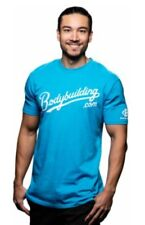 Bodybuilding Grand Slam logo T-shirt Blue Fitted 60% cotton 40% Poly Athletic T