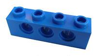 Lego 50 blaue Techniksteine 1x4 mit Loch (3701) Neu Steine in blau Technikstein