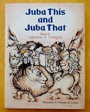 Juba This & Juba That by Virginia Tashjian SIGNED 1969 HC DJ Victoria de Larrea