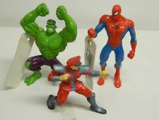 "Lot of 3 - 3"" Mini Action Figures - Spider Man, Green Lantern & Villain PVC//"