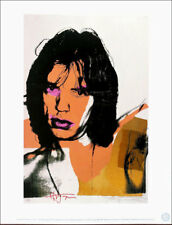 ANDY WARHOL Mick Jagger Official Authorized Litho Print 1989