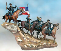 7th Cavalry Regiment 54mm 1/32 Tin Painted Toy Soldier | Art Quality