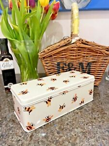 Emma Bridgewater NEW DESIGN Long Deep Cream Tin With Bees