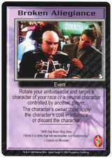 F to S RARE CARDS PICK ONE 1998 BABYLON 5 CCG Pre-owned THE SHADOWS