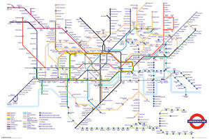 Transport For London Underground Map Maxi Poster 61x91.5cm | 24x36