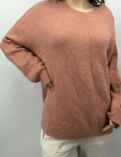 LEITH Fuzzy Pink Soft Pullover Sweater Snap Sleeve XS
