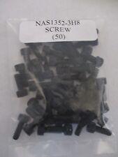 "New listing Nas1352-3H8 Black Oxide Cap Drilled Socket Head Screw 10-24 x 1/2"" - Lot of 50"