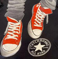 Vintage Wiz Khalifa T-Shirt Taylor Gang Or Die Graphic Converse Shoes Retro 3XL