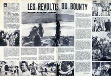Article papier 2 pages LES REVOLTES DU BOUNTY décembre 1962 FAJ 918 P1034515